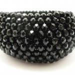 Black Bangle Bracelet - Bl..